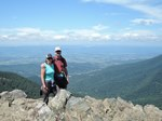 On the summit of Hawksbill Mountain in Shenandoah National Park